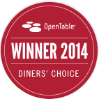 Most Booked and Diner's Choice Awards from OpenTable.com